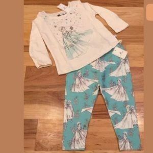 Gap Girls 12-18 Months Disney Elsa Frozen Outfit
